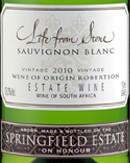 """Life from Stone"" Sauvignon Blanc, Springfield Estate"