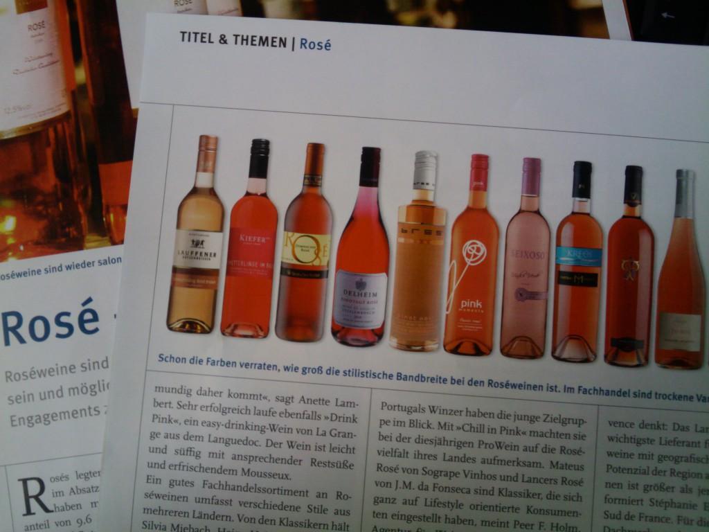 Rosé-Artikel Weinwirtschaft 2011