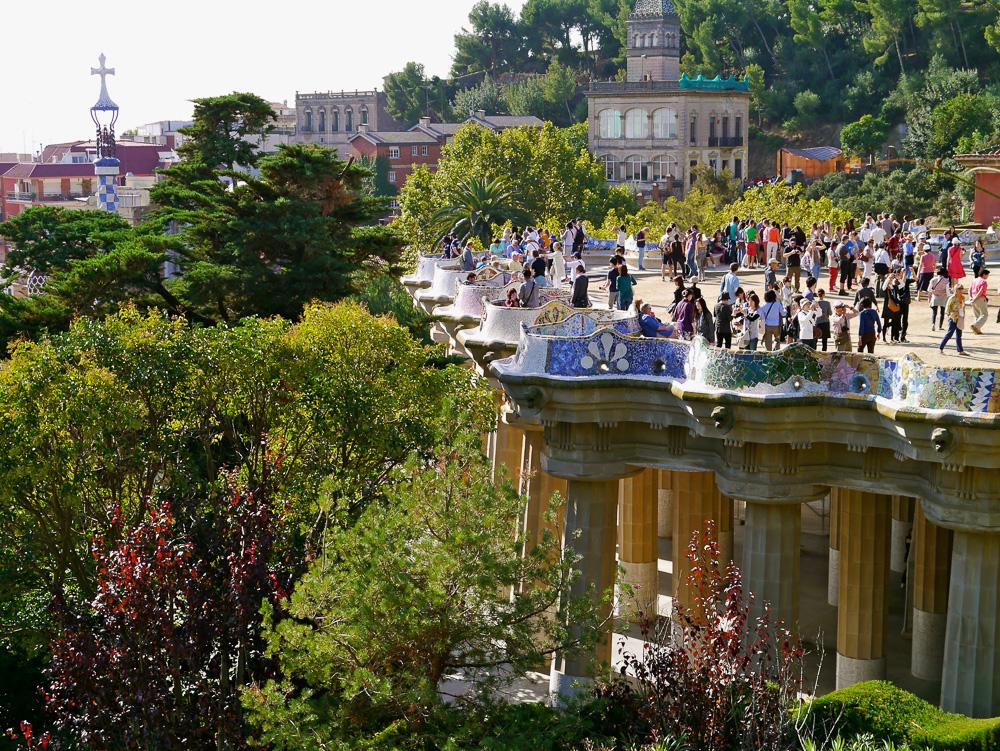 Park Güell als Touristenmagnet