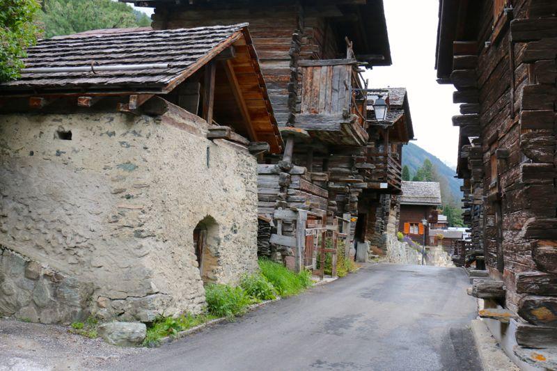 Alte Dorfstraße in Chandolin