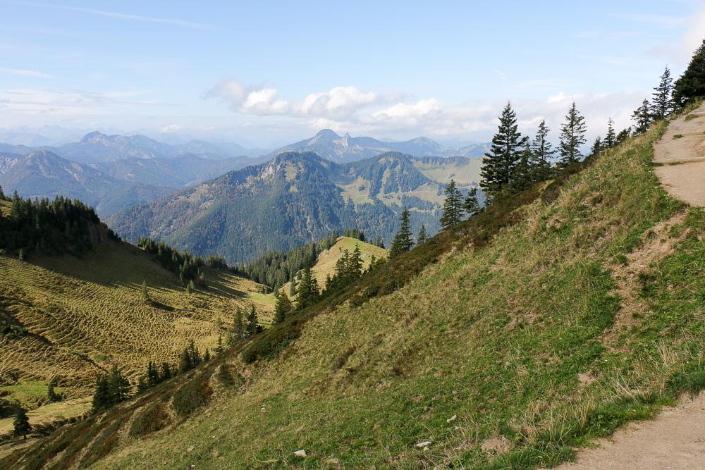Weitsicht: Fast während der ganzen Tour hast du einen herrlichen Blick auf die Alpen