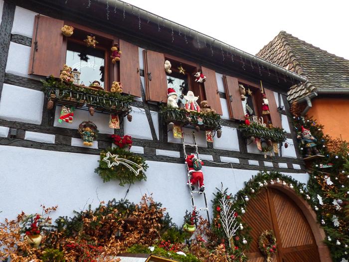 Weihnachtsmarkt, Elsass, Frankreich