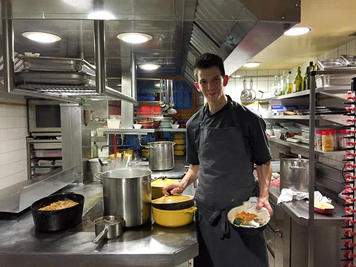 Eigentümer und Küchenchef Maxime