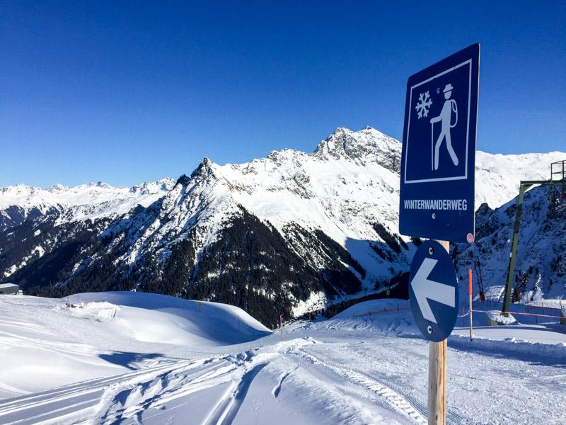 Winterweg auf dem Schafberg