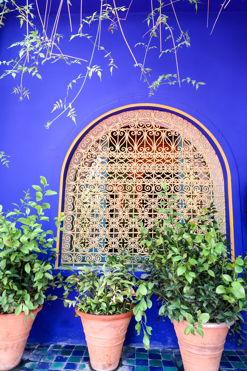 Wohnhaus im Jardin Majorelle