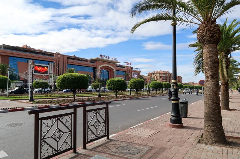 Mall in der Neustadt von Marrakesch