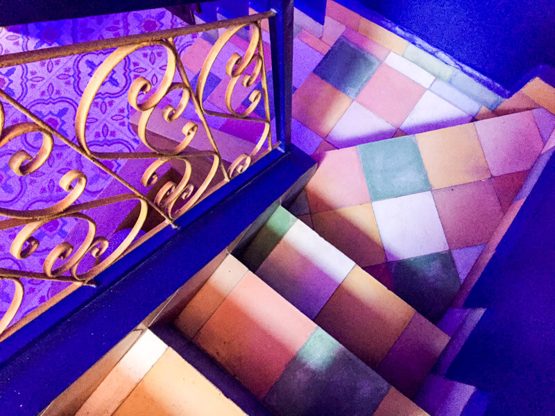 Farbenpracht im Riad