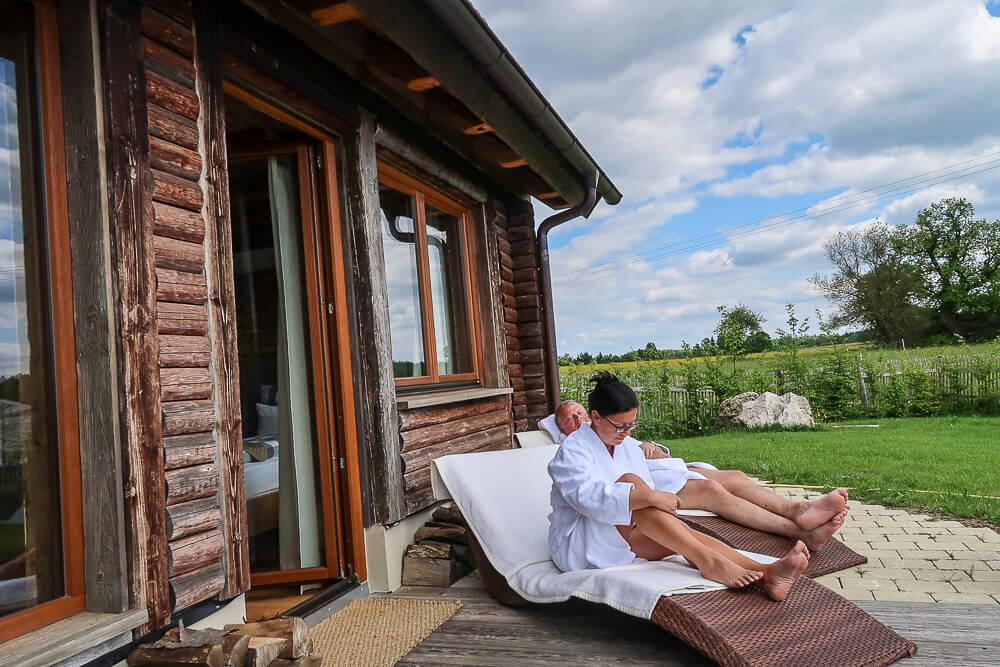 Relaxen im Chalet auf der Ostalb