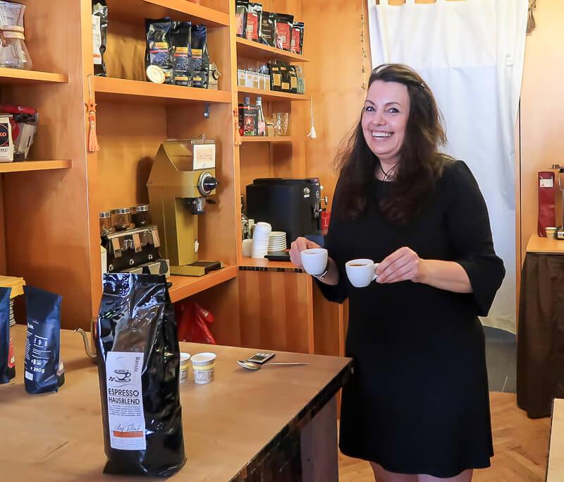 Kaffee-Expertin Megi Schmitt