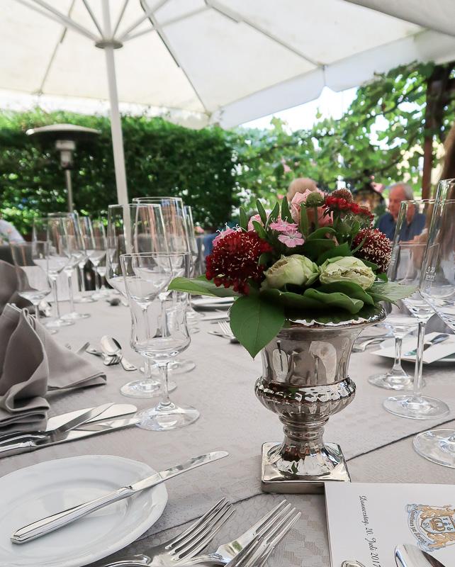 Romantisch: Garten im Gasthaus Krone in Großheubach
