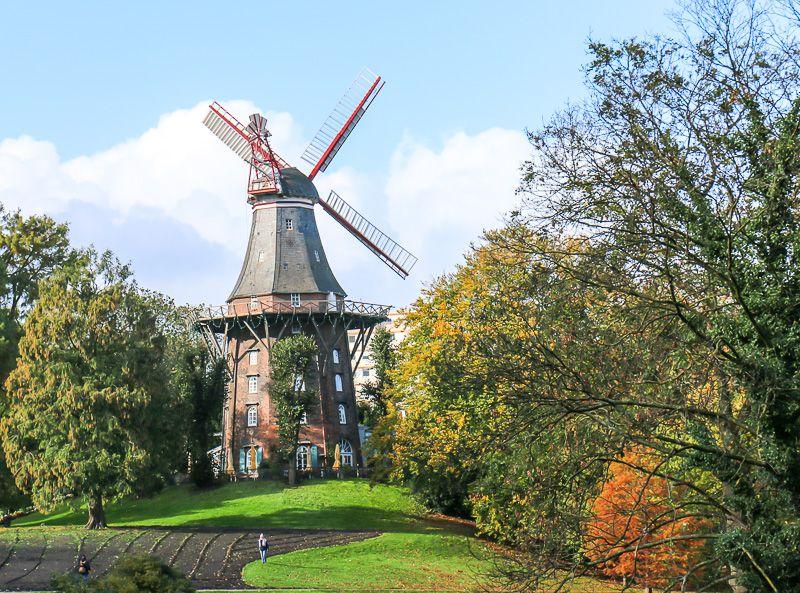 Windmühle auf dem Wall