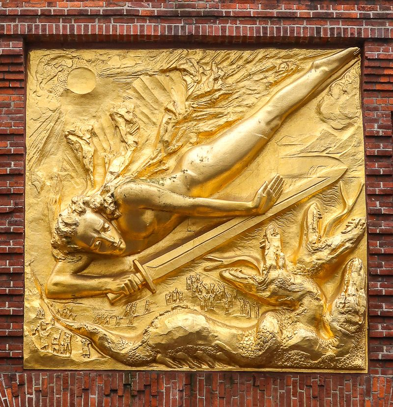 Relief am Eingang der Böttcherstraße