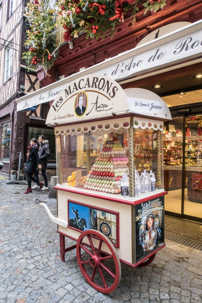 Macaronstand in Rouen