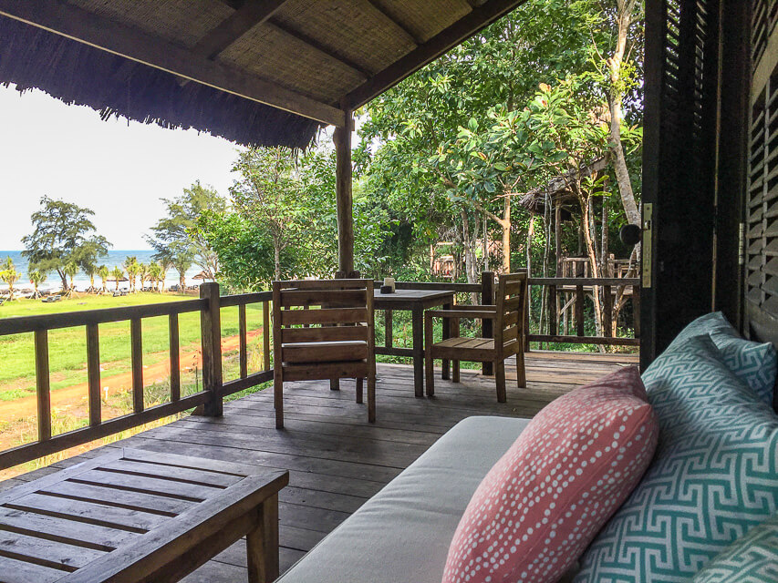 Terrasse unseres Hauses am Strand, Phu Quoc