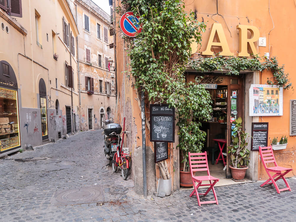 Bar in Trastevere