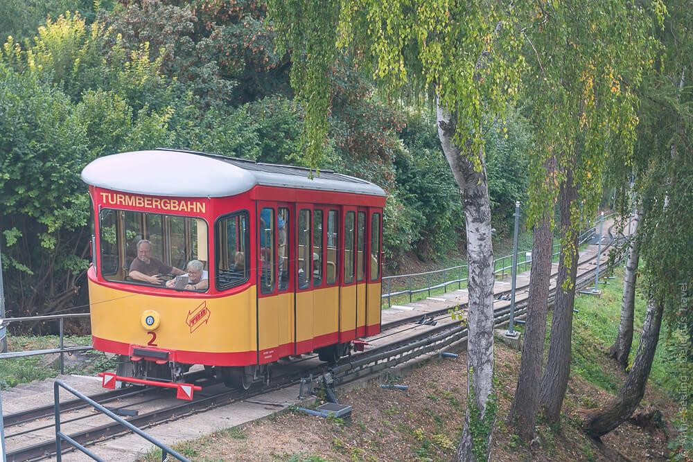 Turmbergbahn, die älteste Standseilbahn Deutschlands