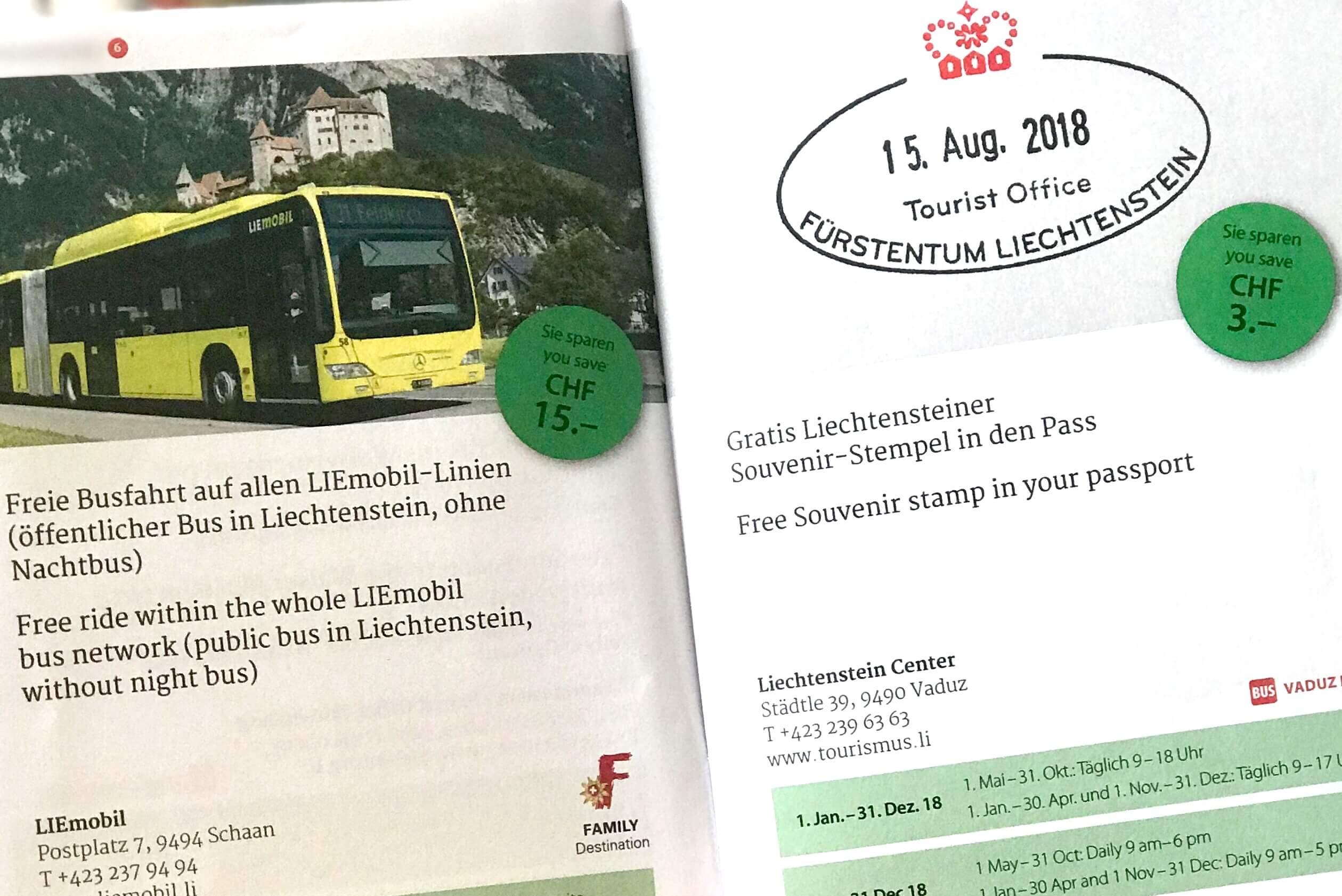 Pass-Stempel Liechtenstein