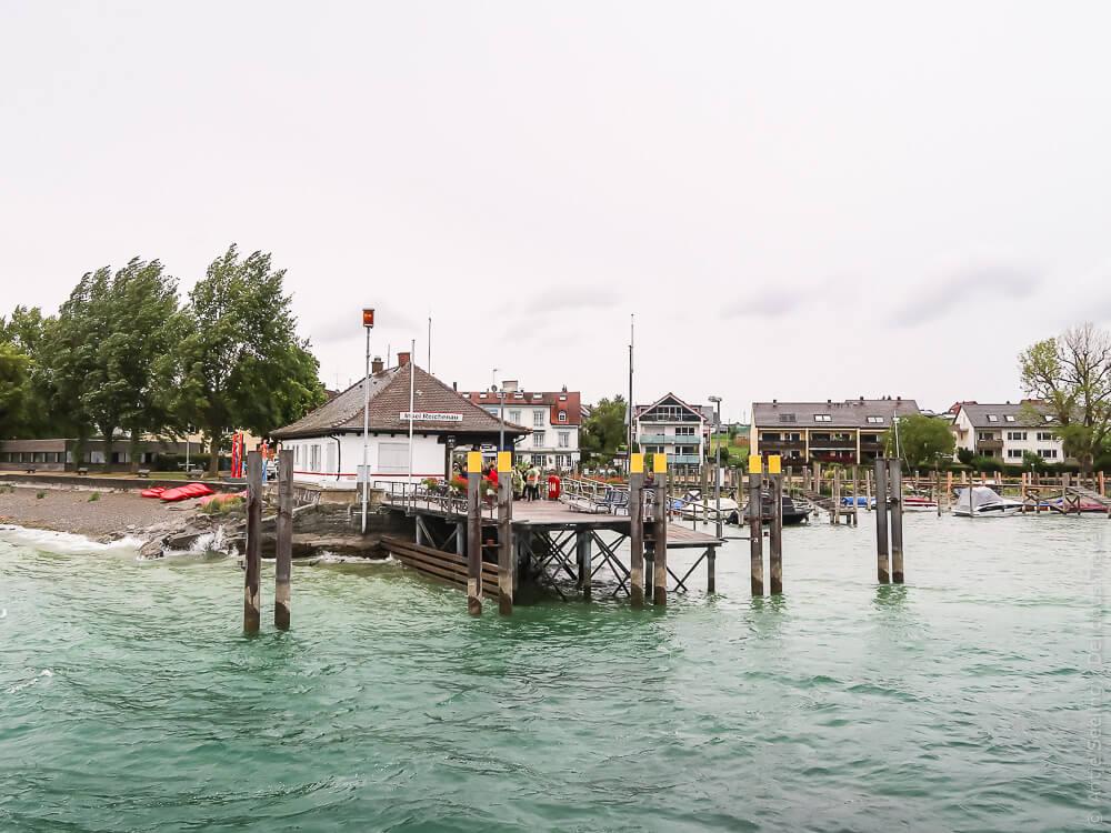 Fährschiff-Anlegestelle Insel Reichenau