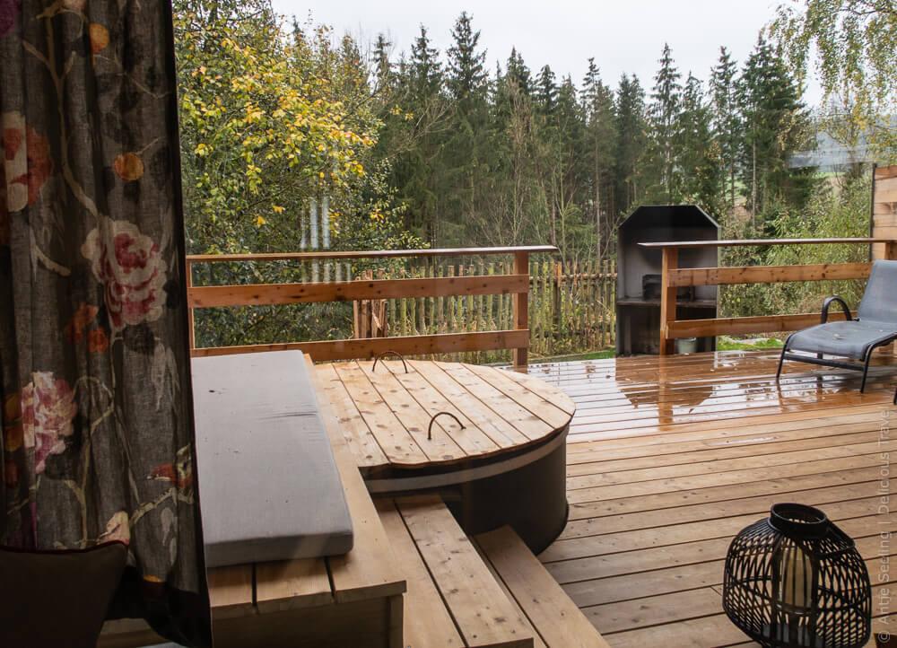 Terrasse, Forstgut Regen, Bayerischer Wald