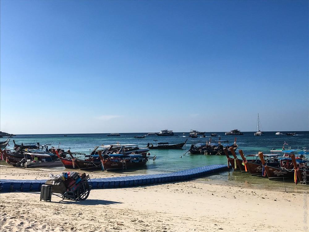 Anleger am Pattaya-Beach
