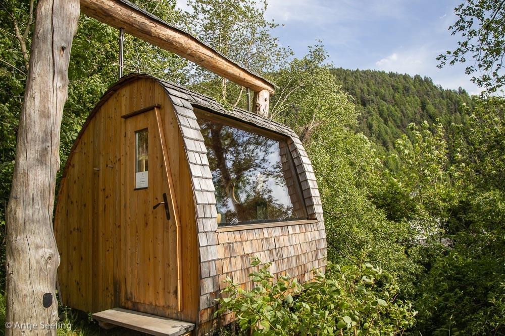 Saunagondel im Lüsnerhof Hotel