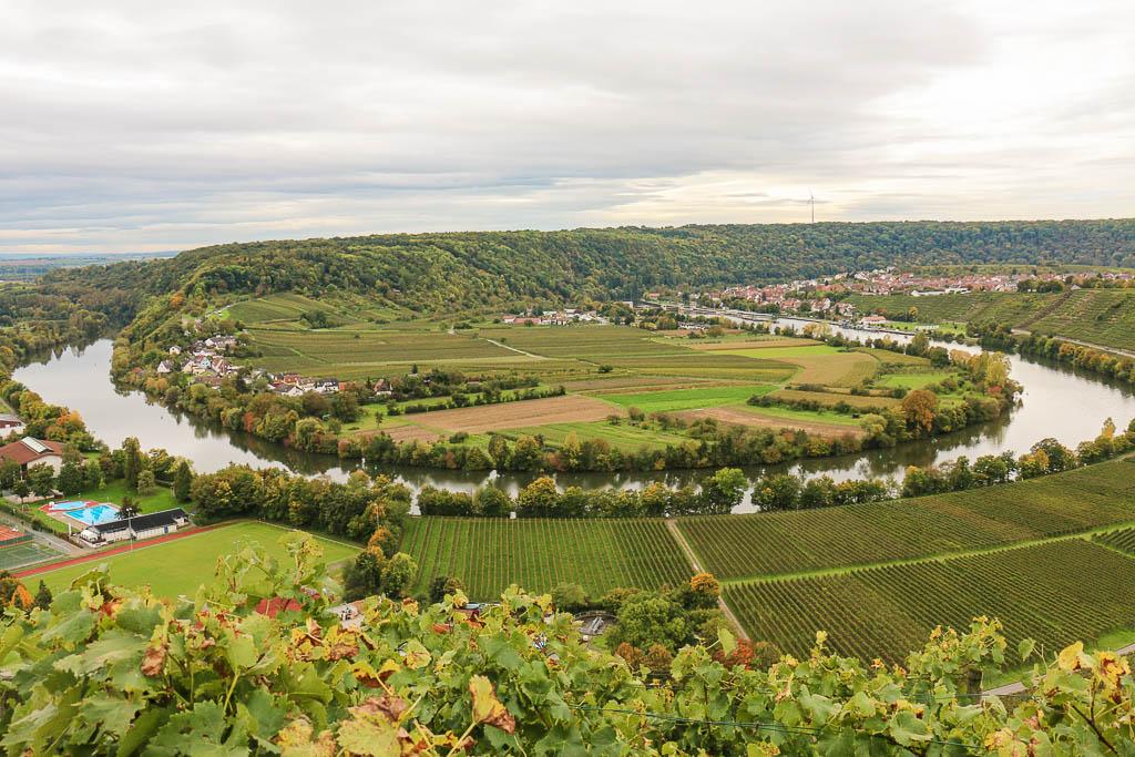 Neckarschleife Mundelsheim Baden-Württemberg