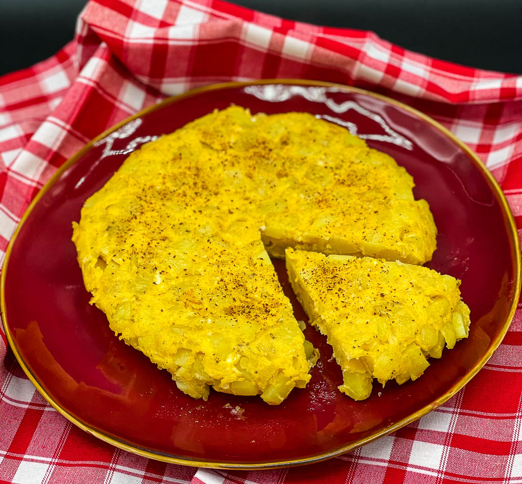 Traditionelle Tortilla de patatas aus Andalusien