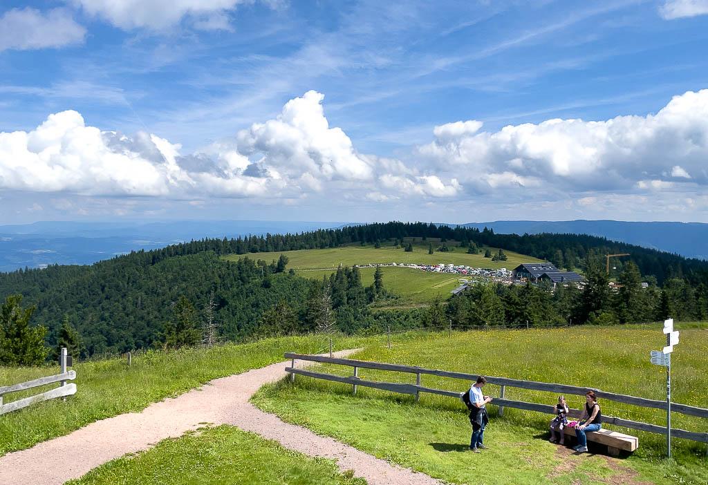 Aussicht vom Kandel im Schwarzwald