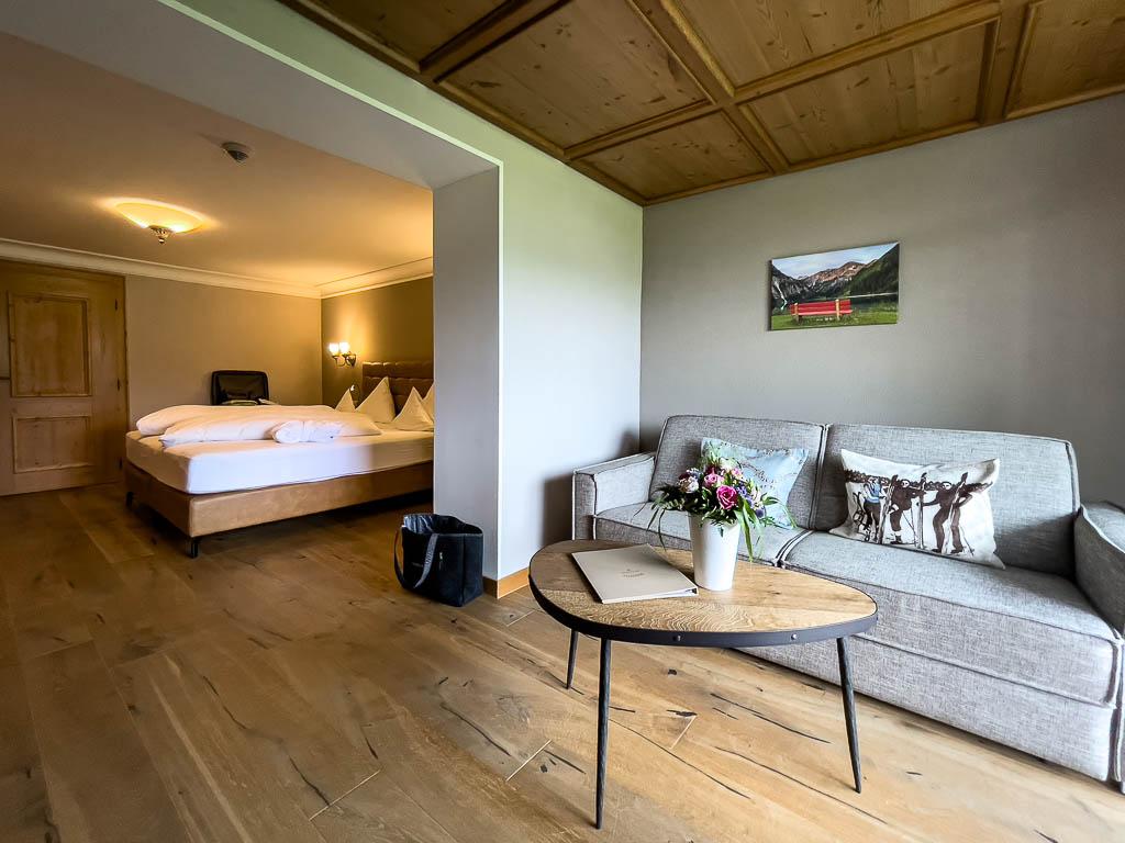 Unser Zimmer im Genießer-Hotel Hohenfels, Tannheimer Tal